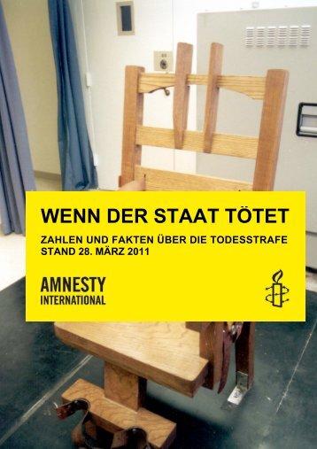 Todesstrafe 2010 - Amnesty International Schweizer Sektion