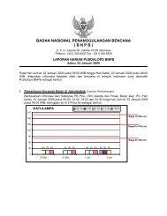 Laporan Harian 3 Januari 2009 - BNPB