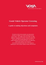 Goods Vehicle Operators Licensing Guide to Making Objections ...