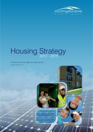 Housing Strategy 2012~2015 - Huntingdonshire District Council