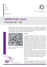 SERION ELISA classic Chlamydia IgA / IgG