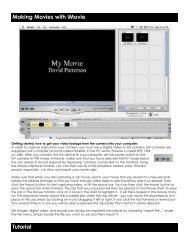 iMovie instructions