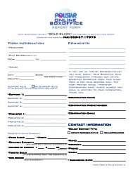 Form Information Comments: Contact Informa act ... - PollstarPro