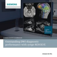 Outstanding DWI diagnostic performance with syngo RESOLVE 2.90 ...