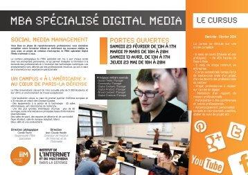 MBA SPÉCIALISÉ DIGITAL MEDIA - IIM