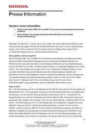Presse Information - Honda