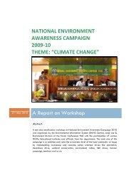 NATIONAL ENVIRONMENT AWARENESS CAMPAIGN 2009-10 ...