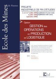 Option gestion des opérations en production et logistique