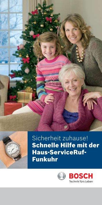 Sicherheit zuhause! Schnelle Hilfe mit der Haus-ServiceRuf- Funkuhr