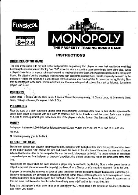 Rules monopoly game Monopoly Jail