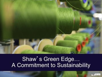 Shaw's Green Edge… A Commitment to Sustainability