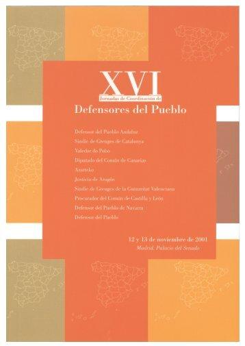 XVI Jornadas de Coordinación entre Defensores del Pueblo (2001)