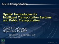 Spatial Technologies for Intelligent Transportation ... - CalACT