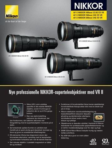 Nye professionelle NIKKOR-superteleobjektiver med VR II - Nikon