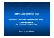 DESTINAZIONE ITALIA 2020 Promuovere e comunicare lo stile ...