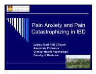 Pain Anxiety and Pain Catastrophizing in IBD - The Canadian Pain ...