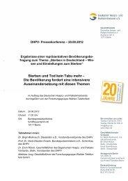 Sterben und Tod kein Tabu mehr - Die ... - Deutscher Hospiz