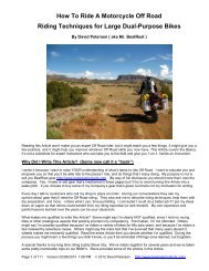 How To Ride A Motorcycle Off Road - 02-28-13 1306