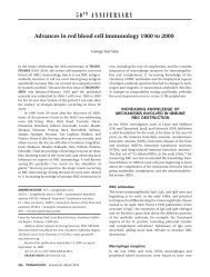 Advances in red blood cell immunology 1960 to 2009 - the UCLA ...