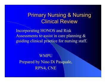 Primary Nursing & Nursing Clinical Review