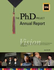 Annual Report - The PhD Project