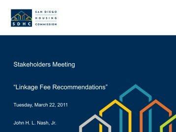 Stakeholders Meeting, Linkage Fee Recommendations PowerPoint ...