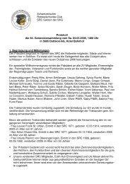 Protokoll GV 2006 - Schweizerischer Rottweilerhunde Club