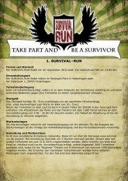 1. SURVIVAL–RUN - Survival Run - BGF aktiv GmbH