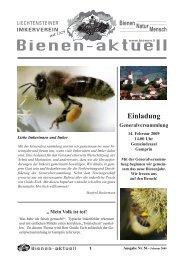 Bienen-aktuell Nr. 56 - Liechtensteiner Imkerverein