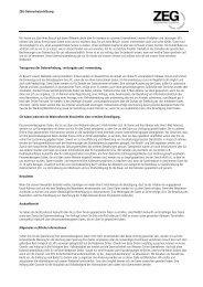 Datenschutzerklärung - ZEG Zentraleinkauf Holz und Kunststoff eG