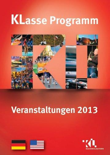 KLasse Programm - Kaiser in Lautern Werbegemeinschaft eV