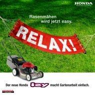 Noch nie war Rasenmähen so easy. - Honda