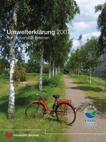 Umwelterklärung 2007 - Ums Uni Bremen - Universität Bremen