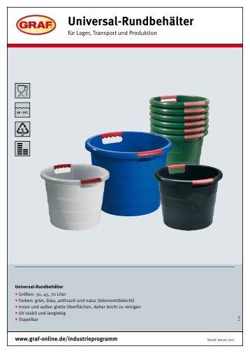 Universal-Rundbehälter - Otto Graf GmbH