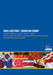 Investment and Trade-Growing our International Exports(1)