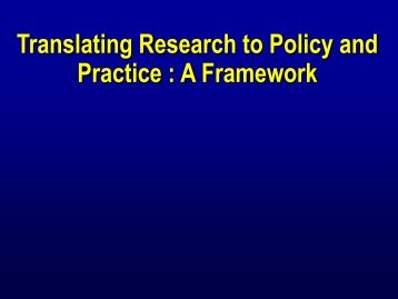Translating Research to Policy and Practice : A ... - The INCLEN Trust