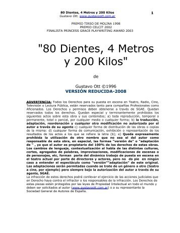 80 Dientes, 4 Metros y 200 Kilos - Gustavo Ott