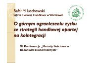 n - Szkoła Główna Handlowa w Warszawie