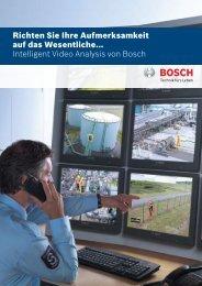 Richten Sie Ihre Aufmerksamkeit auf das ... - Bosch Security Systems