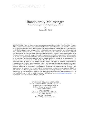 Bandolero y Malasangre FF - Gustavo Ott