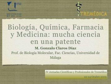 Biología, Química, Farmacia y Medicina: mucha ciencia ... - Tremédica