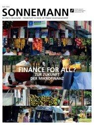 FINANCE FOR ALL ? - Frankfurt School of Finance & Management