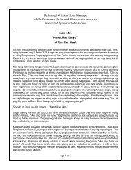 Manatili Sa Kanya - Philippines Mission Work of the Protestant ...
