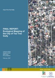 Ecological Mapping Report - City of Tea Tree Gully