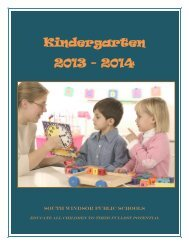 Kindergarten 2013 - 2014 - South Windsor Public Schools