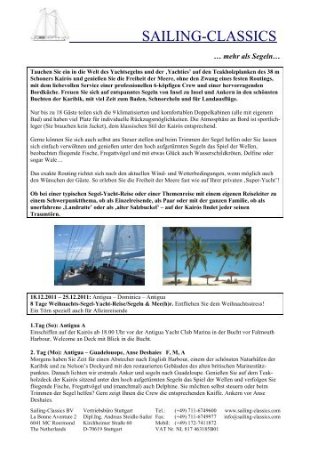 18.12. - 25.12.2011 - Sailing Classics