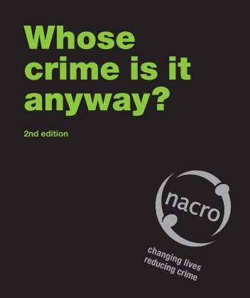 Whose crime is it anyway? - Nacro
