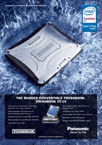 THE RUGGED CONVERTIBLE TOUGHBOOK. TOUGHBOOK CF-19