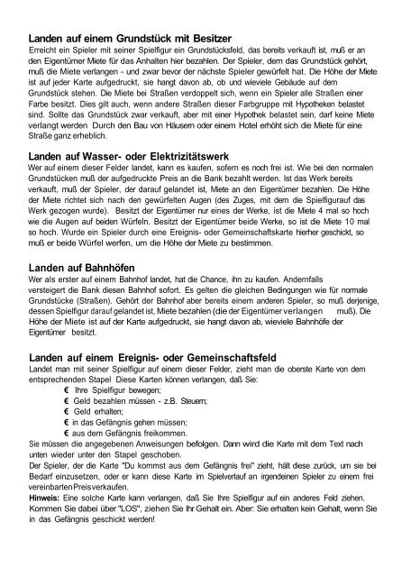 Monopoly Deutschland Regeln