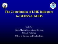 Contributions of LME Indicators to GEOSS & GOOS - Large Marine ...